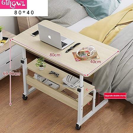 Gwlgwl Table De Lit Avec Tablette Forme Legerement Incurvee Plan