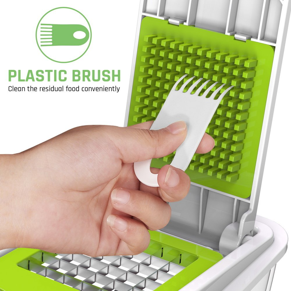 Vegetable Chopper Slicer Dicer Cutter & Grater - LOVKITCHEN Vegetable Grater with 11 Interchangeable Stainless Steel Blades - Heavy Duty Multi Fruit Cheese & Onion Chopper Dicer Kitchen Cutter