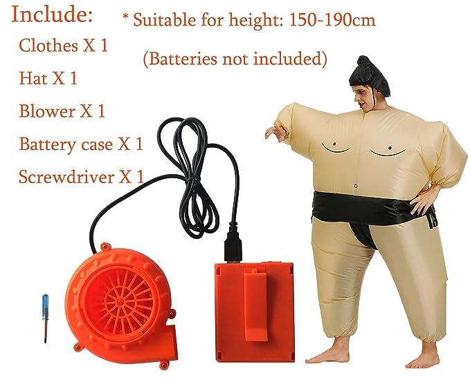 Amazon.com: Sumo - Traje inflable para lucha, disfraz de ...