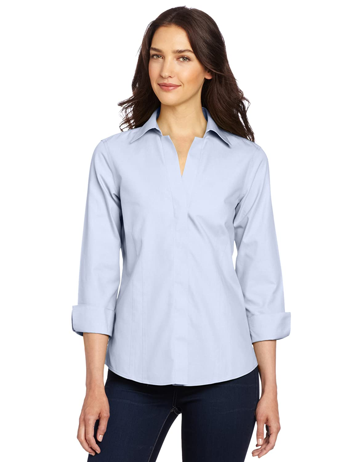 Foxcroft Women's Taylor Essential Non-Iron Blouse at Amazon ...