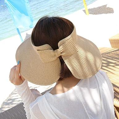 Chalier Cappello Spiaggia Arrotolato Visiera da Sole a Tesa Larga Pieghevole  Estendibile da Donna  Amazon.it  Abbigliamento fdf86b6befd3