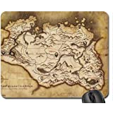 """Skyrim Map-Mouse Pad, tappetino per Mouse, 10,2 x 21,08 x 0,30 (8,3 x 0,12"""") cm)"""