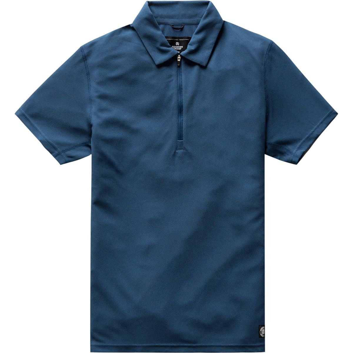 Reigning Champ Coolmax Pique Polo – Men 's B07B4GS2SC  ブルー(Pacific Blue) Large