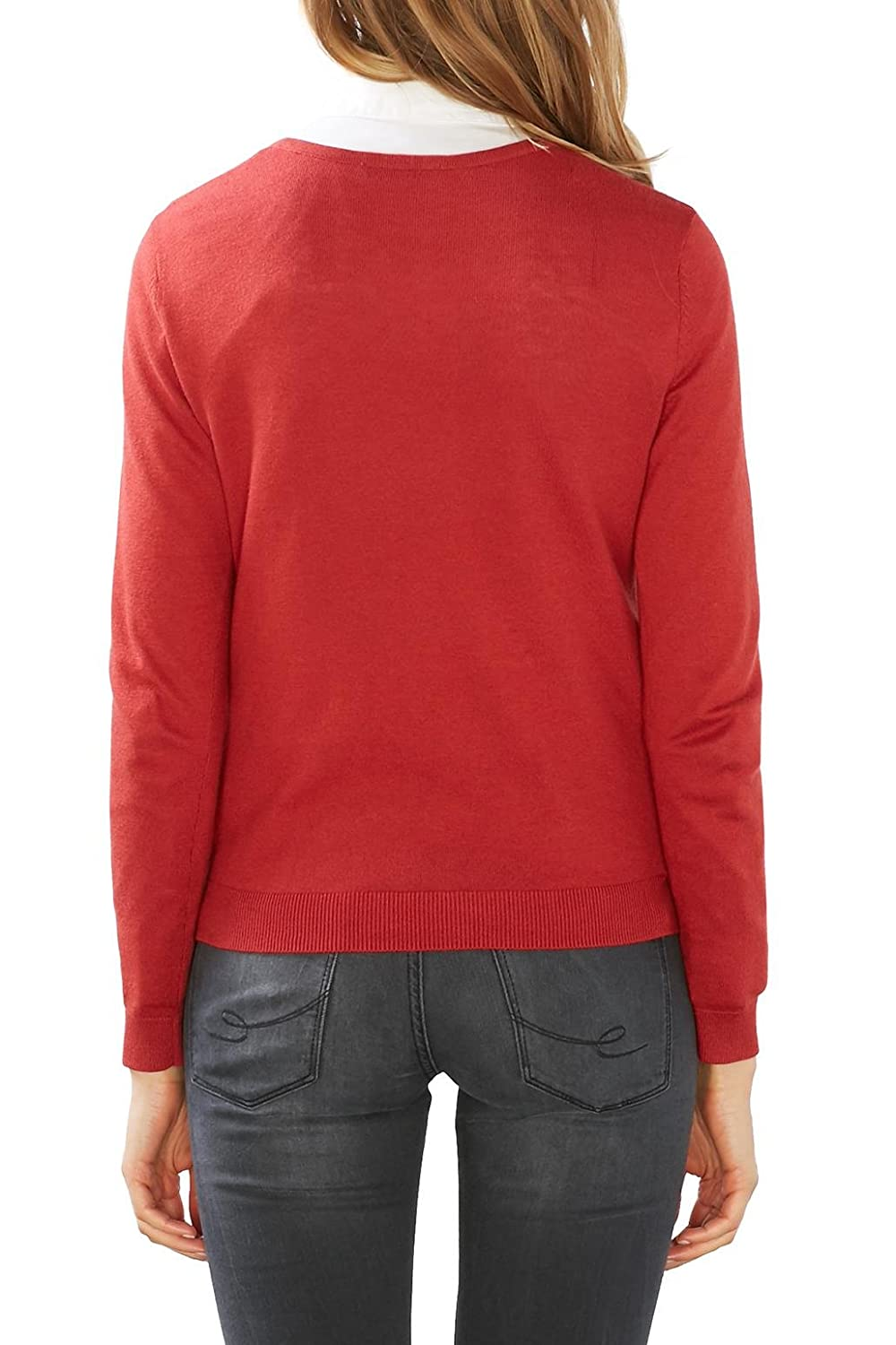 By taille 076cc1i001 Et Rouge Vêtements X Small 34 Red Edc dark Esprit Femme Pull Accessoires Fabricant TnAxqSWF