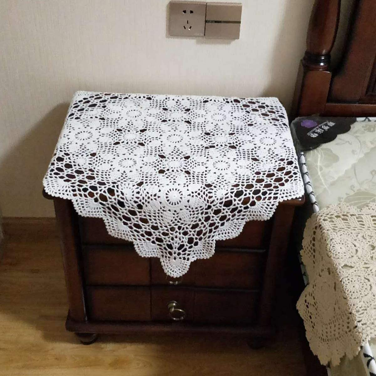 crochet doilies Home decor large doily Handmade tablecloth White crochet doily Crochet doily