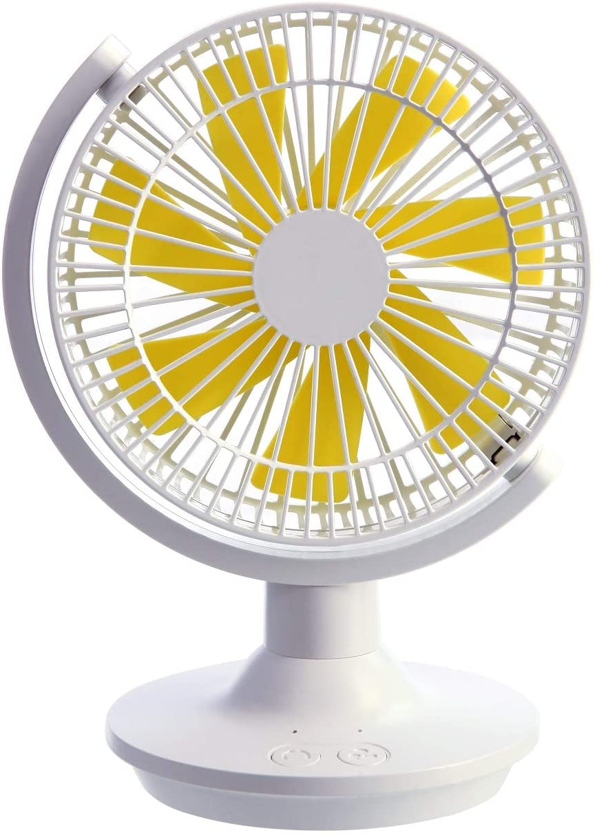 Mini Desktop Fan Oscillating Adjustable Table Fan USB Charging Portable Energy Saving Breeze Mute for Family, Office, Study, Outdoor Camping, Picnic