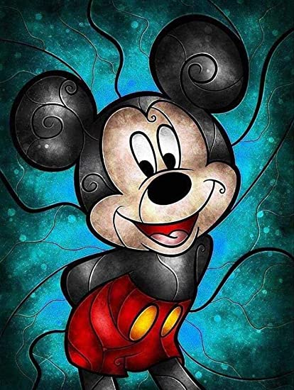 Amazon Com 30cm X 40cm Diamond Painting Mickey Mouse Cartoon Wall