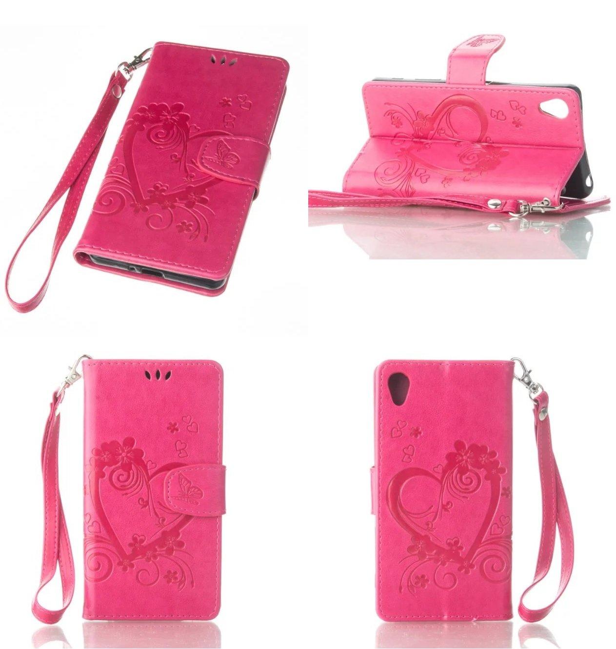 Amazon.com: Sony XA Wallet Case, Knurling Love Heart Flower ...