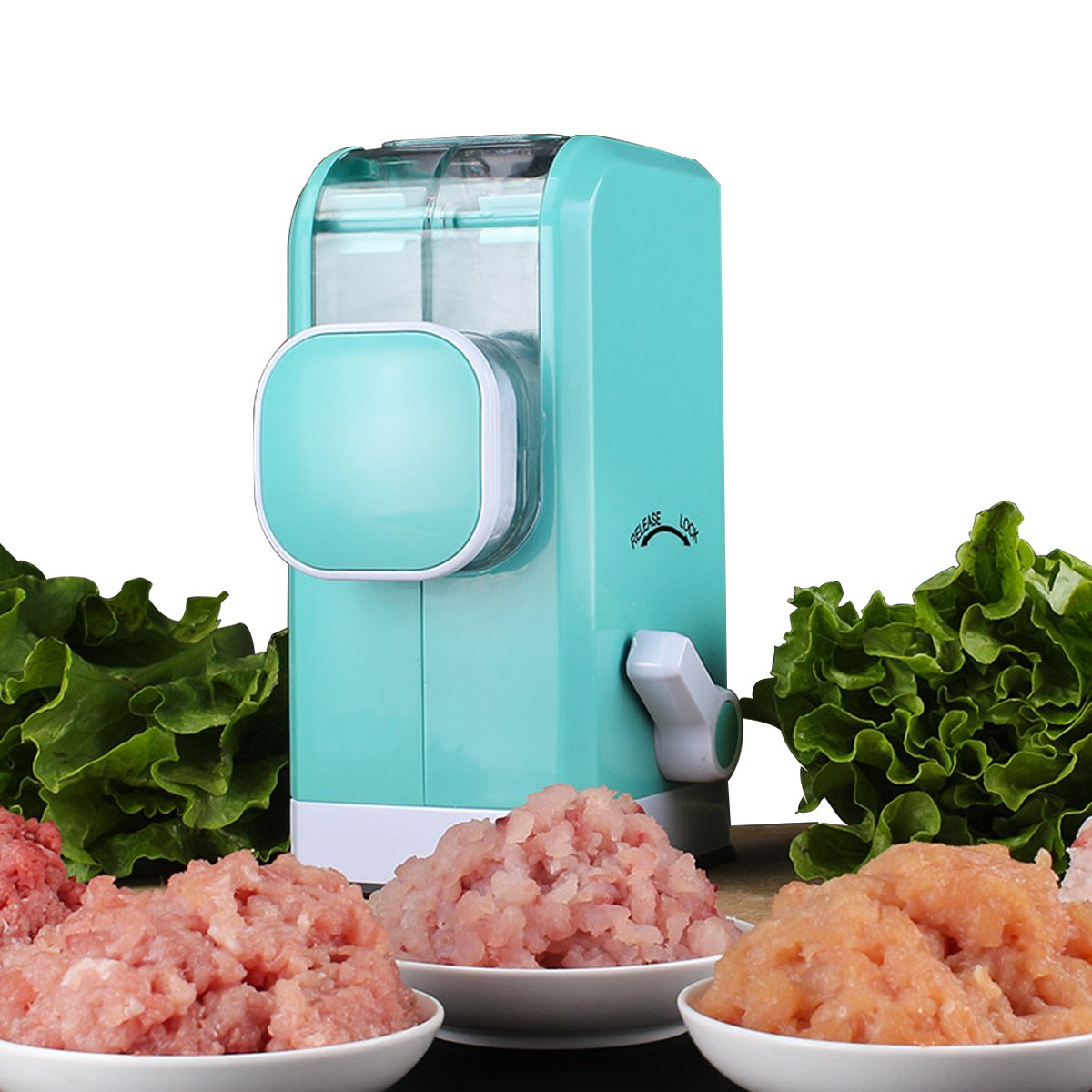 SOLOOP Household Manual Multi-Function Meat Mincer Grinder with Powerful Suction