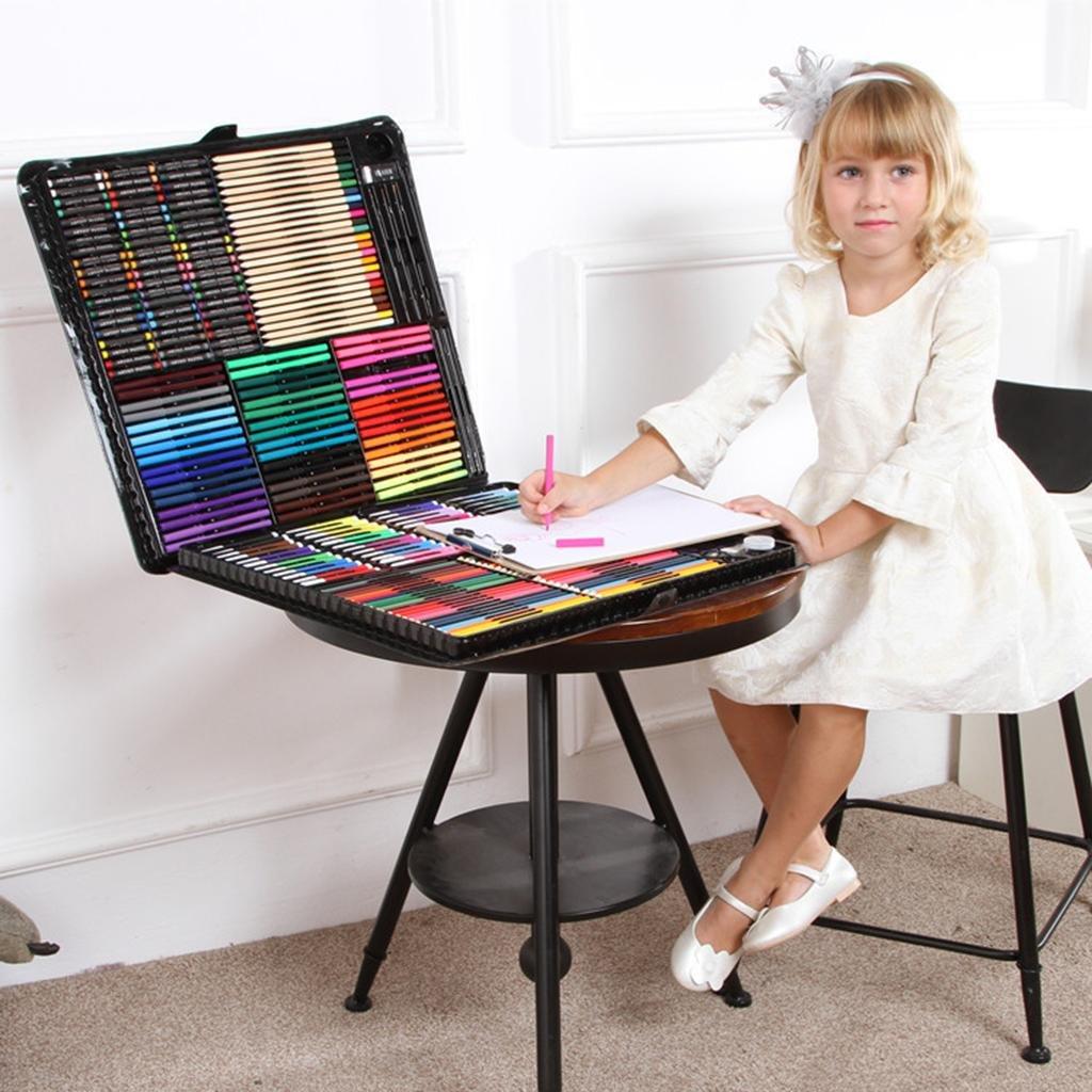 288pcs Deluxe Art Oil Pencils Stifte Marker Farben Buntstifte - Perfekt für Anfänger oder angehende Künstler Kinder Erwachsene