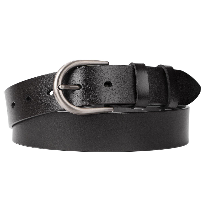 Women Belts for Jeans Dress Pants,SUOSDEY Black Genuine Leather Belts for Women by SUOSDEY (Image #1)