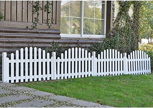 ZHANWEI Valla de jardín Bordura de jardín Decorativo Jardinería Paisaje Patio Césped Madera Maciza Barrera Animal, 2 Colores (Color : White, Size : 120x68cm): Amazon.es: Jardín