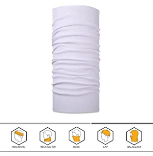 43f4528972c Amazon.com  KALILY 4 Pack Solid White Moisture Wicking Headwear ...