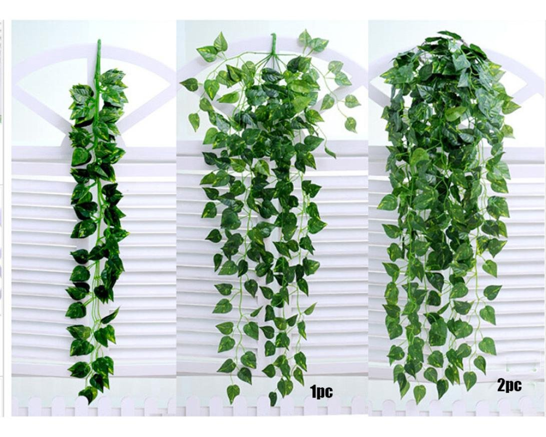Kacowpper 1 Pack Artificial Wall Hanging Ivy Vine Plants Artificial
