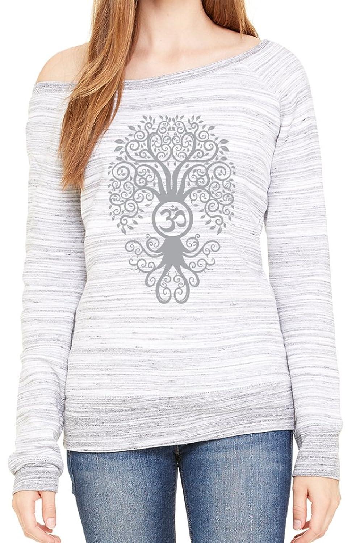 Yoga Clothing For You Ladies Bodhi Tree Wide Neck Sweatshirt