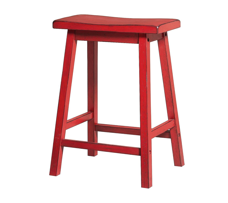Acme Furniture AC-96649 barstools, Antique Red