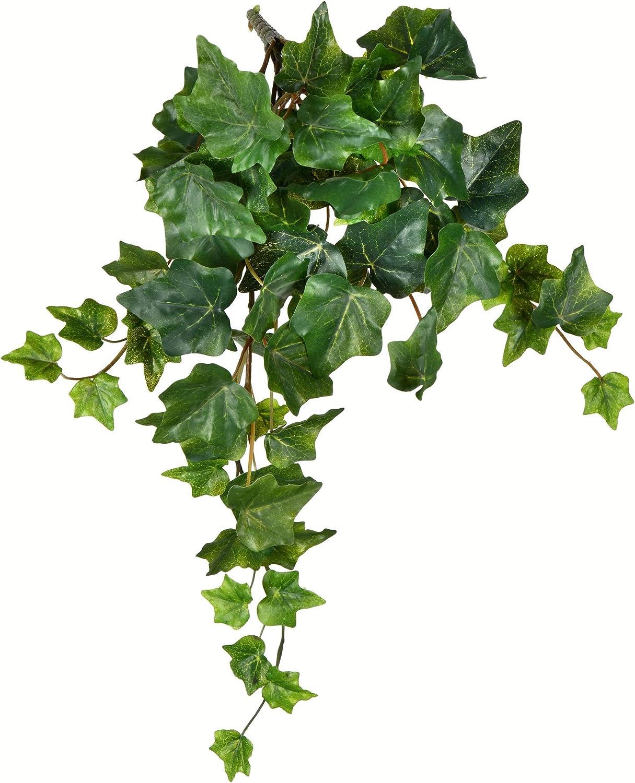 "Garden Ivy Greenery Hanging Bush~Green,Burgundy Accent~24/"""