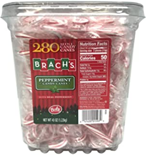 Bobs Red & White Mini Peppermint Candy Canes, 280 Count Tub, ...