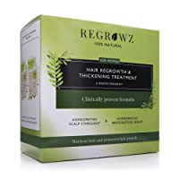 REGROWZ Women's 100% Natural Topical Hair Restoration Treatment for Regrowth, Hair...