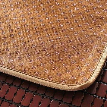 QTQHOME Cool Ammortizzazione Seduta Naturale bamb/ù Traspirabilit/à Confortevole Cuscino della Sedia,per Famiglia Sedia da Ufficio Auto Cool Pad Estate-Brown 45x45cm 18x18inch