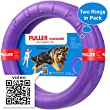 Dog Toys by Puller Plus - Soft Rings Floating Toy for Dental Healthy Outdoors Games Throwing Catching Fetching Plays or Dog Training for Small Puppies or Large Adult Dogs.