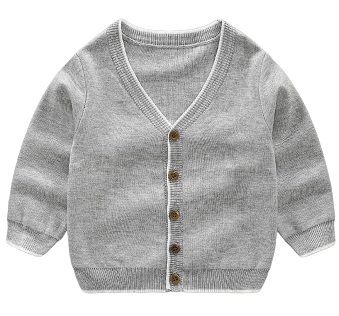 Hajotrawa Girls and Boys Knit Long Sleeve Children Tops Sweaters Cardigans