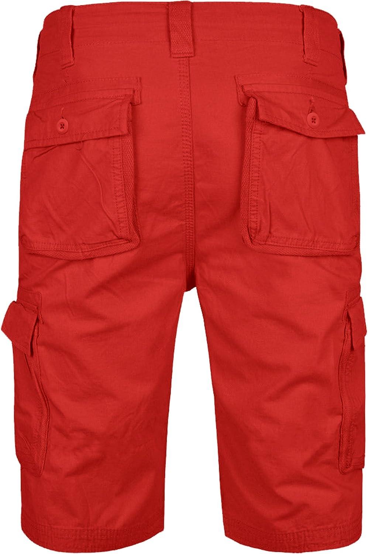 100/% algod/ón West Ace Pantalones de trabajo para hombre con bolsillos para rodilleras
