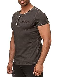 da983e1d77f5 Tazzio Herren T-Shirt mit V-Halsausschitt 4060: Amazon.de: Bekleidung