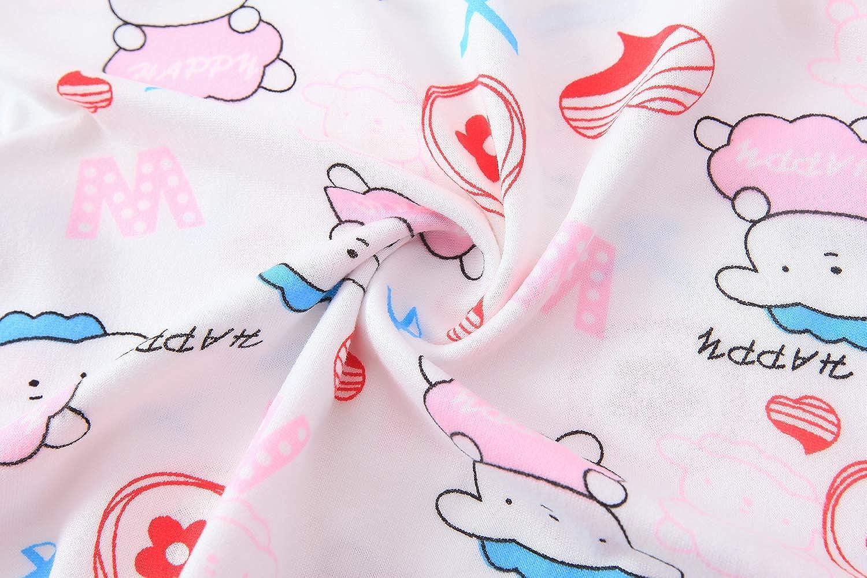 Girls Nighties Polyester Round Collar Sleepwear Soft Cute Animal Princess Nightdress
