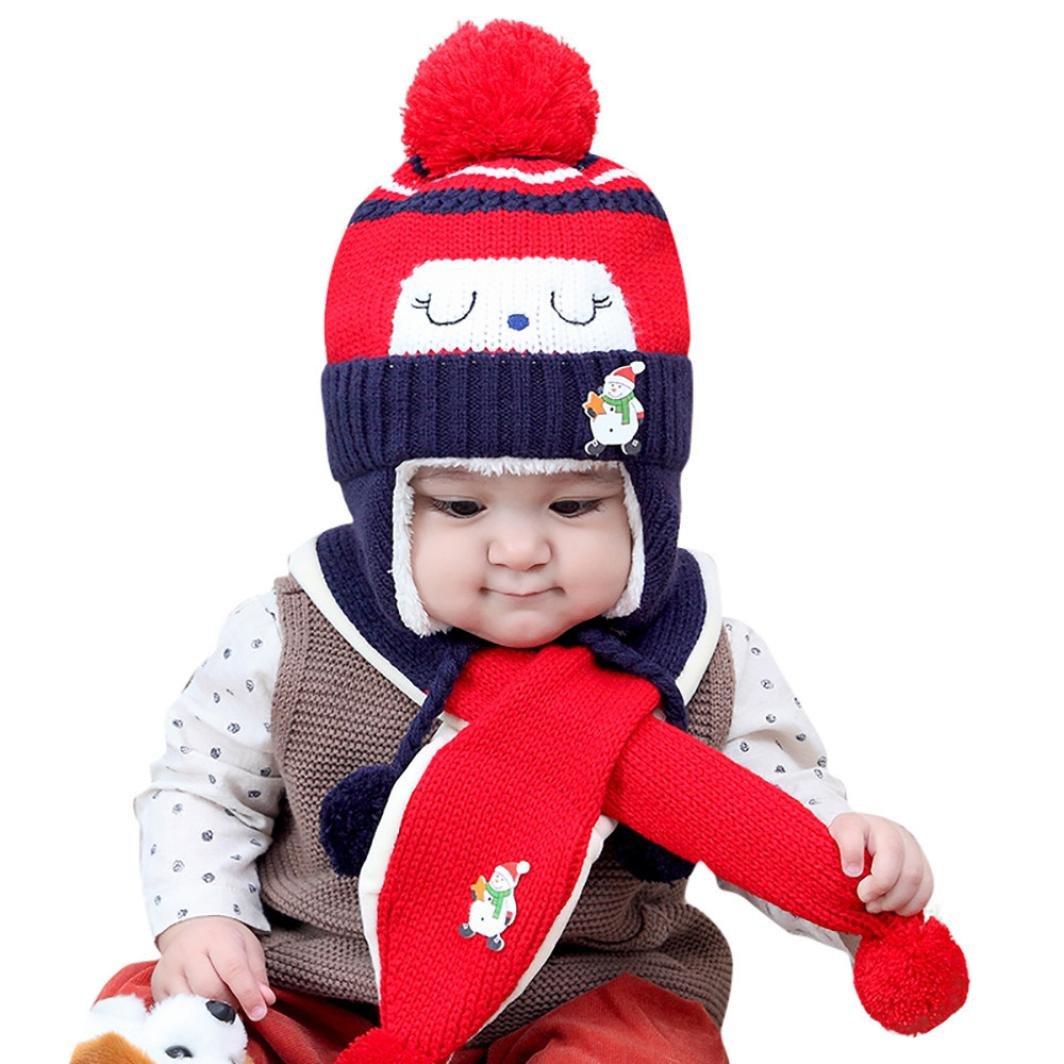 ebbb8143192 Xinxinshidai Amarillo Gorros Bebé invierno cálido sombreros Sombrero que  hace punto de los bebés de los niños Gorro de capucha Beanie Turban Head  Tapa ...