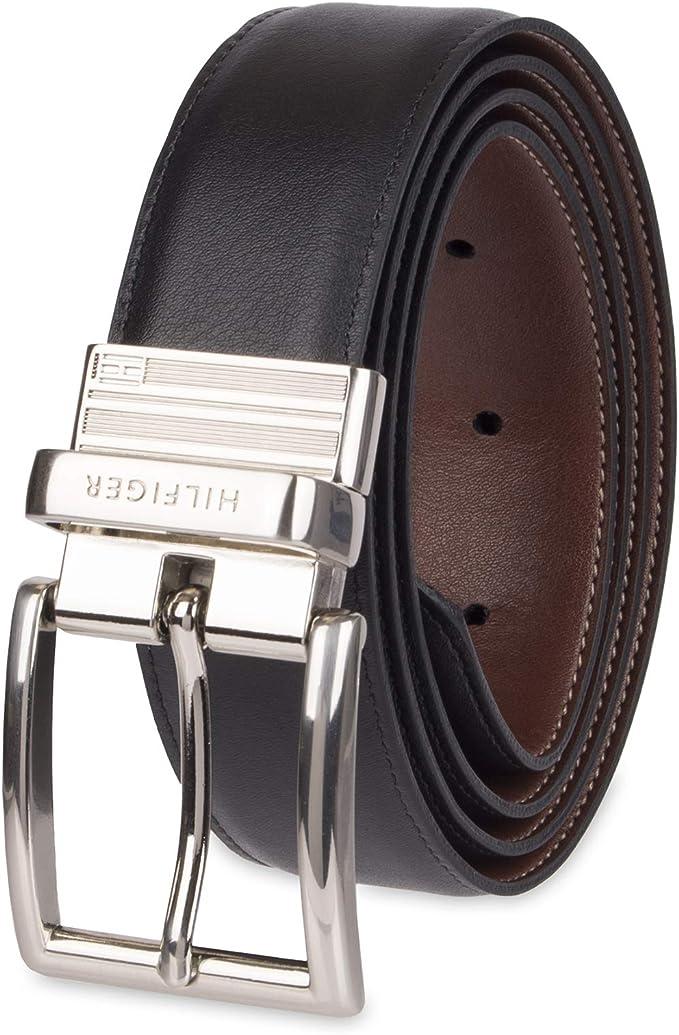Amazon.com: Tommy Hilfiger - Cinturón reversible de piel ...
