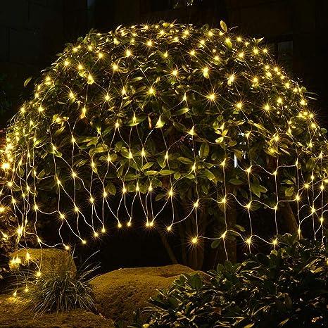 KALRTO Luz LED Net, Luz De Hadas, Jardín Luz Decorativa, Iluminación De Bajo Voltaje De Seguridad, Cumpleaños Atmósfera De Iluminación, Cortina De Luz, Blanco Cálido 2mx1.5m 200 Lights: Amazon.es: Deportes y aire