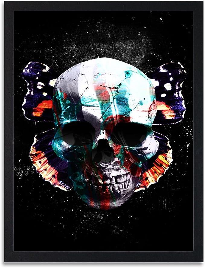 Acheter tableau peinture tete de mort online 15