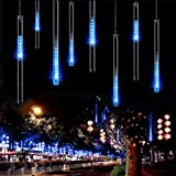 Amazon led meteor light rain dripping icicle lights outdoor led meteor shower lights aveylum 30cm 8 tube 144 leds snow falling raindrop cascading aloadofball Gallery