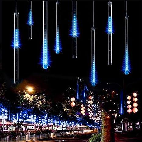 9162fead99d Al aire libre luces LED lluvia de meteoros 20 cm caída de gotas de lluvia de