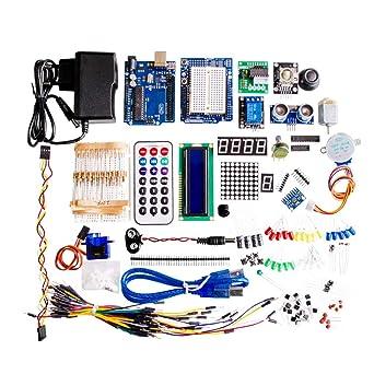 Amazon com: Ultimate Starter Kit Including Ultrasonic Sensor, UNO R3