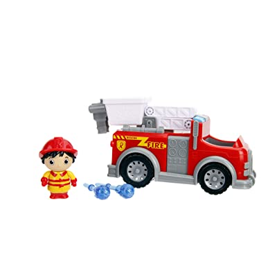 """Jada Toys Ryan's World Fire Truck with Ryan Figure, 6"""" Feature Vehicle Red: Toys & Games"""