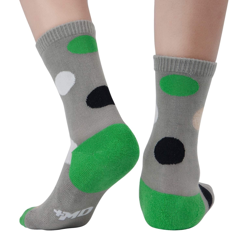 +MD 6 Pack Calzini da Donna Fun Novelty Crew Socks Calzini casual in morbida lana di bamb/ù Calze casual a righe argyle a righe colorate