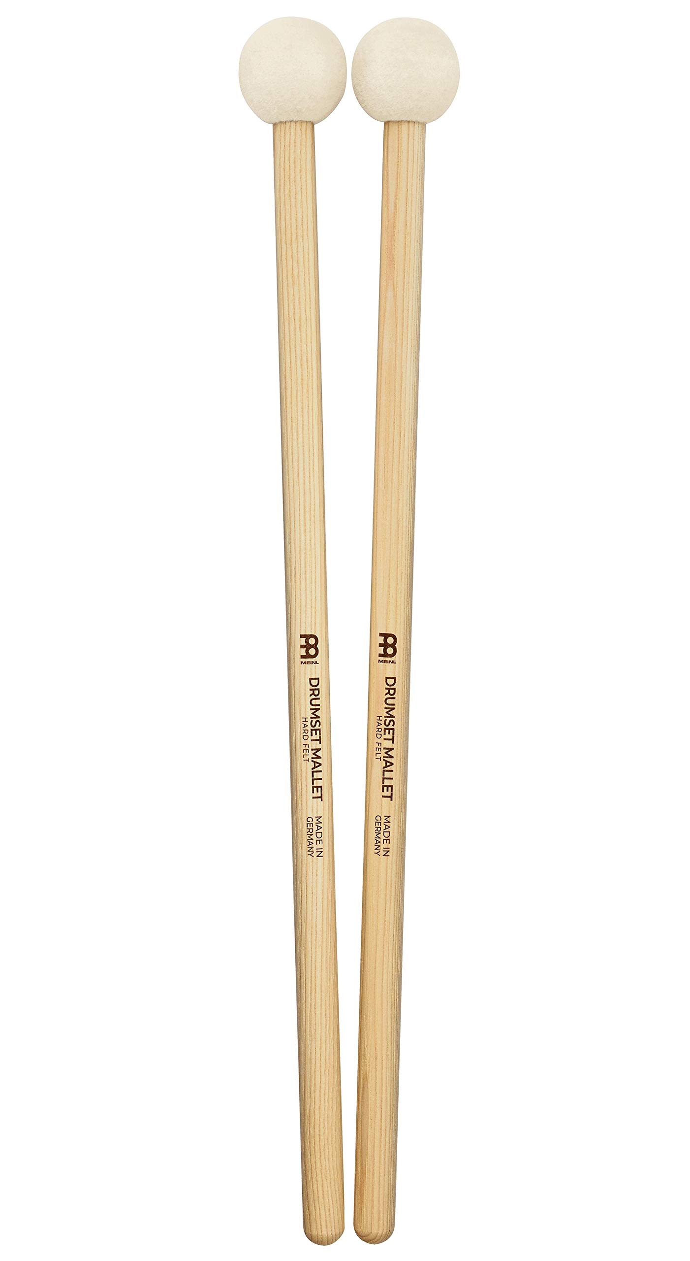 Meinl Stick & Brush Drum Set Mallets With Hard Felt Head & 5A American Hickory Handle - Made in GERMANY SB402