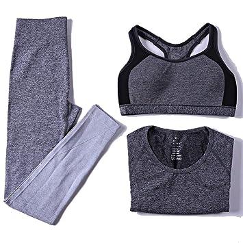 sakj-c 3 Piezas Mujer Conjuntos De Yoga Sujetador + ...