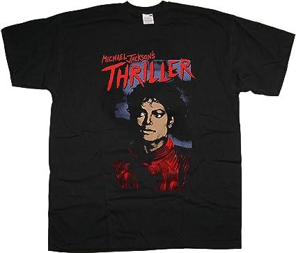 Michael Jackson Thriller King of Pop Oficial Camiseta para Hombre: Amazon.es: Ropa y accesorios