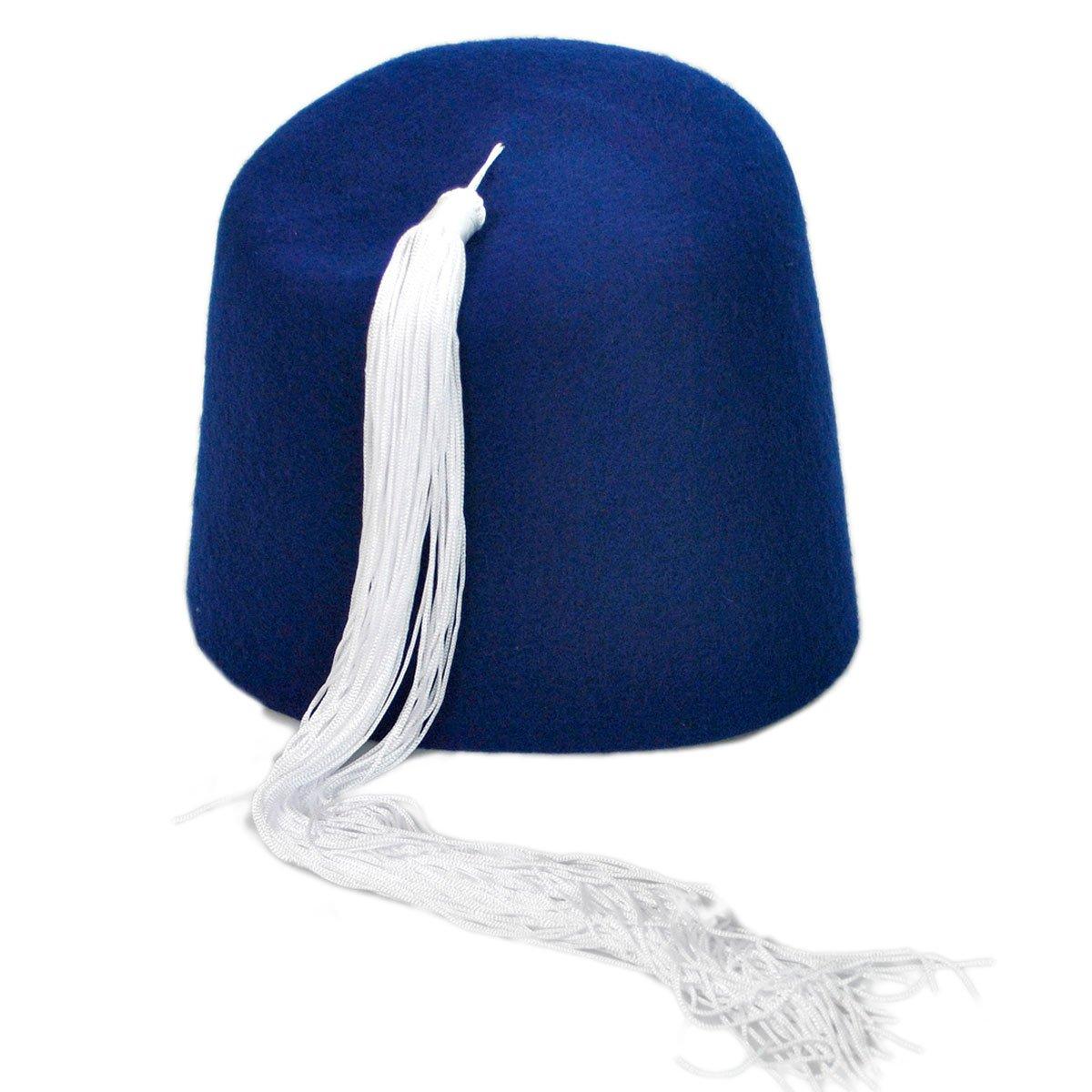 Amazon.com  Village Hat Shop Fez w White Tassel  Clothing 495dd898161