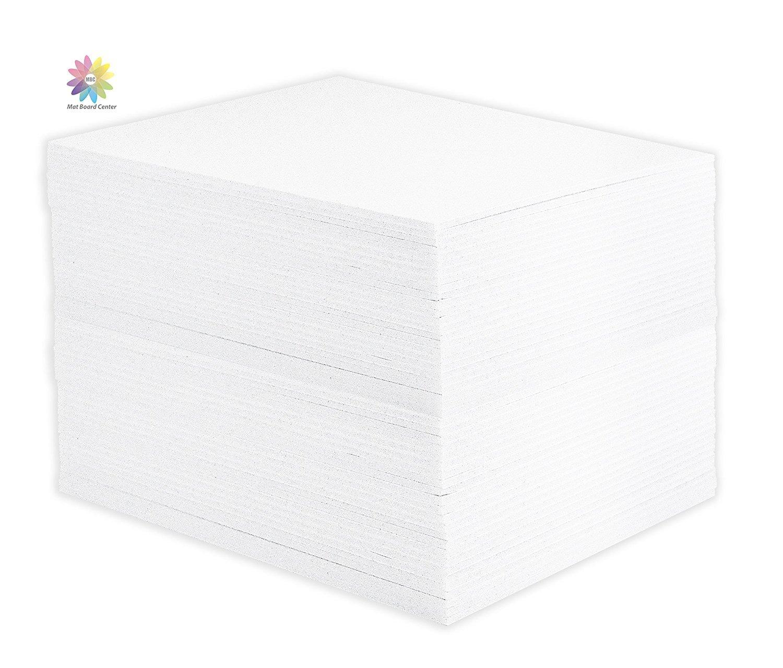 Mat Board Center, Pack of 50 11x14 1/8'' White Foam Core Backing Boards
