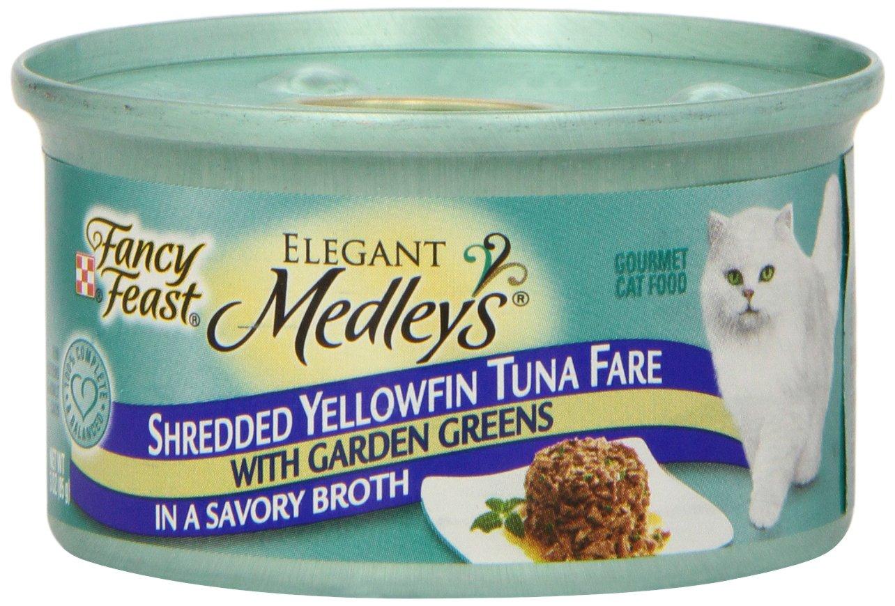 Fancy Feast Shredded Yellowfin Tuna Cat Food, 3 Oz
