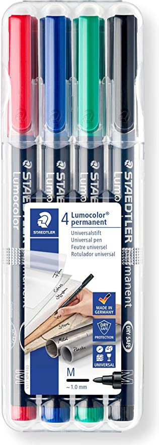 Staedtler Lumocolor Permanent Medium Pen Set 317WP4