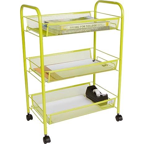 3 tier utility cart cheap utility tier utility cart kitchen storage with rolling wheels metal mesh wire basket trolley amazoncom