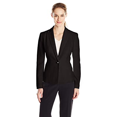 Kasper Women's Stretch Crepe One Button Jacket at Women's Clothing store