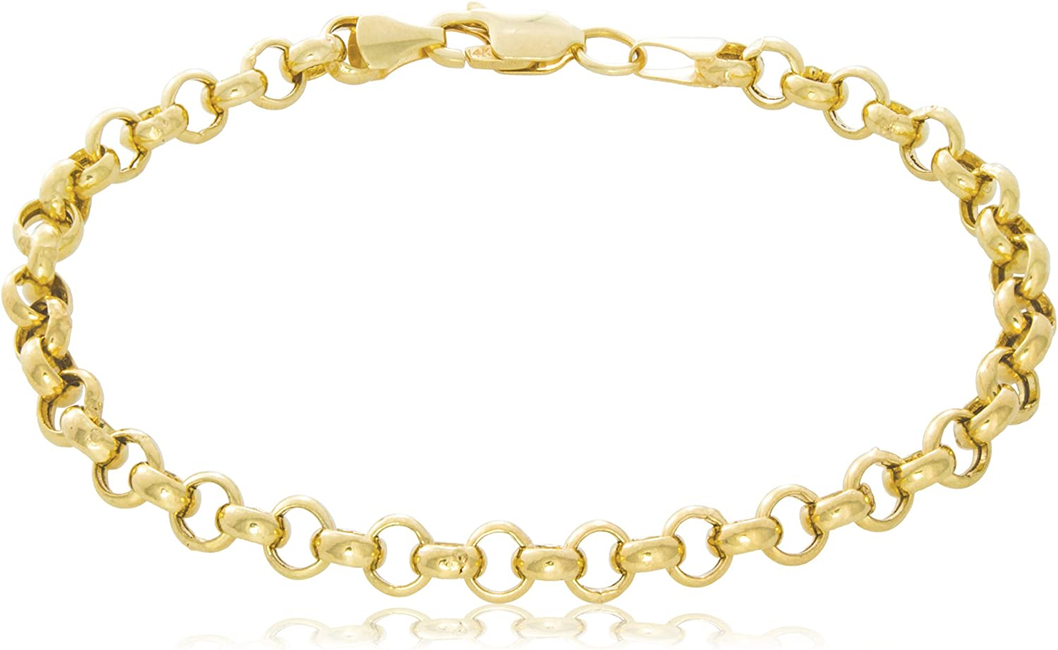 14K Yellow Gold Rolo Chain...