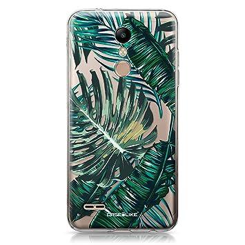 CASEiLIKE® Funda LG K10 2018, Carcasa LG K10 2018, Palmera Tropical 2238, TPU Gel Silicone Protectora Cover