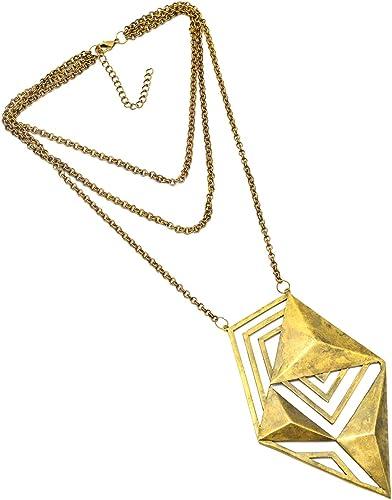 eurasia Handmade Triangle shape filigree geometrical Art Work Jewelry Necklace